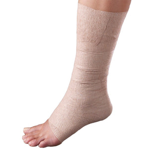 OUTER VIEW OF SELF-ADHERING ELASTIC BANDAGE ON FOOT