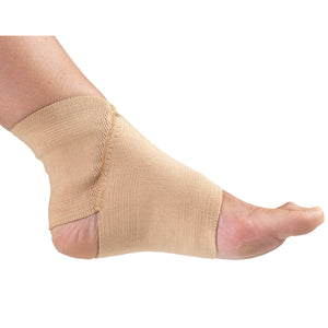 OUTSTRETCHED FOOT WEARING  FIGURE-8 ANKLE SUPPORT