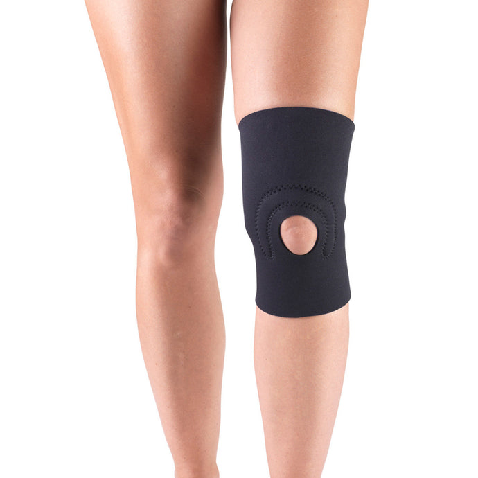 NEOPRENE KNEE SUPPORT WITH HOR-SHU PATELLA STABILIZER