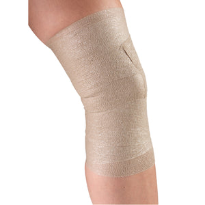 INNER VIEW OF SELF-ADHERING ELASTIC BANDAGE ON KNEE