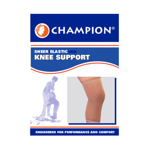 FRONT OF SHEER ELASTIC KNEE SUPPORT PACKAGING