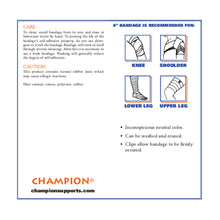 "4"" SELF-ADHERING ELASTIC BANDAGE INFORMATION"