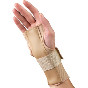 SIDE VIEW OF ELASTIC PULLOVER WRIST SPLINT - REVERSIBLE