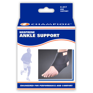 FRONT OF NEOPRENE ANKLE SUPPORT FIGURE-8 PACKAGING