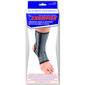 FRONT AIRMESH ANKLE SUPPORT WITH FLEXIBLE STAYS PACKAGING