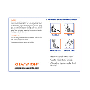 "3"" SELF-ADHERING ELASTIC BANDAGE INFORMATION"