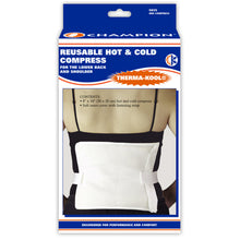 "THERMA-KOOL REUSABLE HOT / COLD COMPRESS 4"" X 9"" FOR LOWER BACK AND SHOULDER PACKAGING"