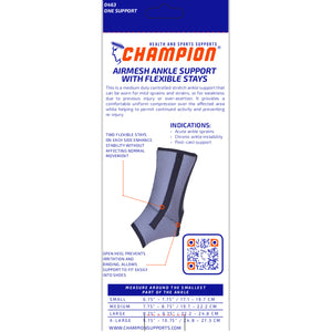 BACK OF AIRMESH ANKLE SUPPORT WITH FLEXIBLE STAYS PACKAGING