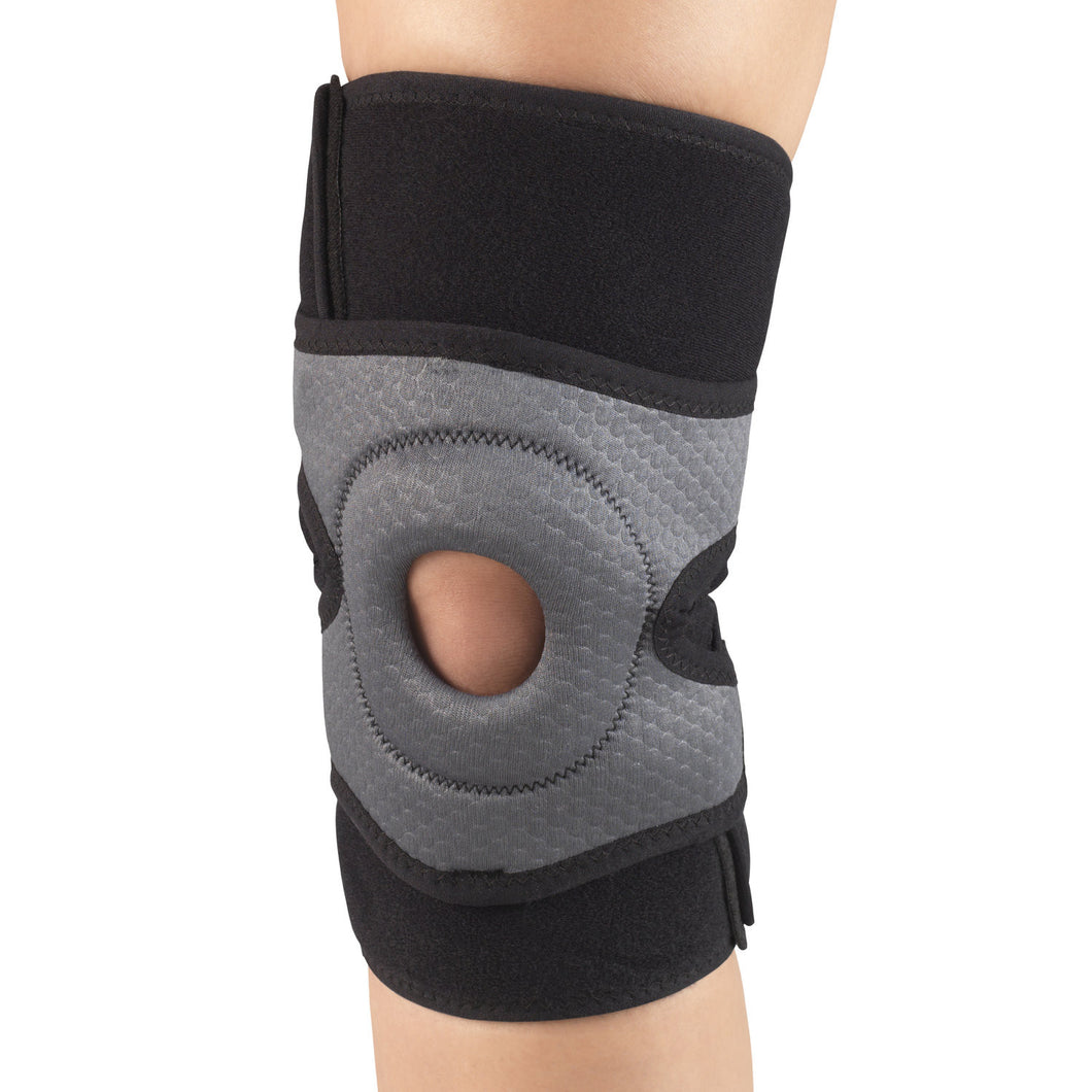 MULTILAYER KNEE WRAP WITH STABILIZER PAD