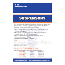 BACK OF SUSPENSORY PACKAGING