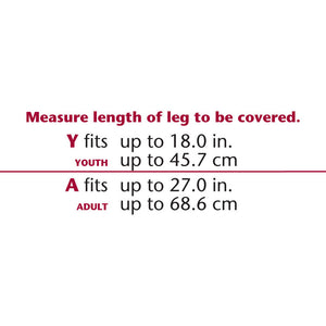 CAST PROTECTOR HALF-LEG SIZE CHART