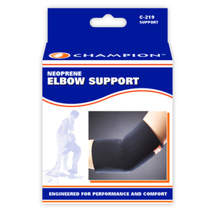 FRONT OF NEOPRENE ELBOW SUPPORT PACKAGING