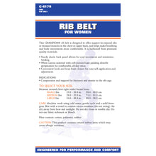 BACK OF RIB BELT FOR WOMEN PACKAGING