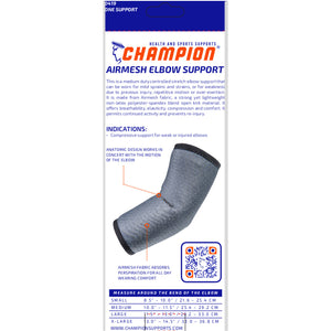 BACK OF AIRMESH ELBOW SUPPORT PACKAGING