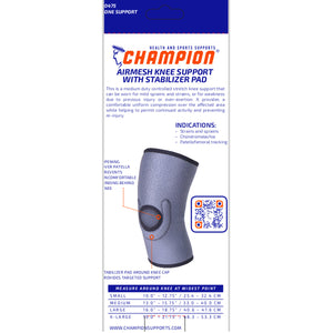 0475 / AIRMESH KNEE SUPPORT WITH STABILIZER PAD / PACKAGING