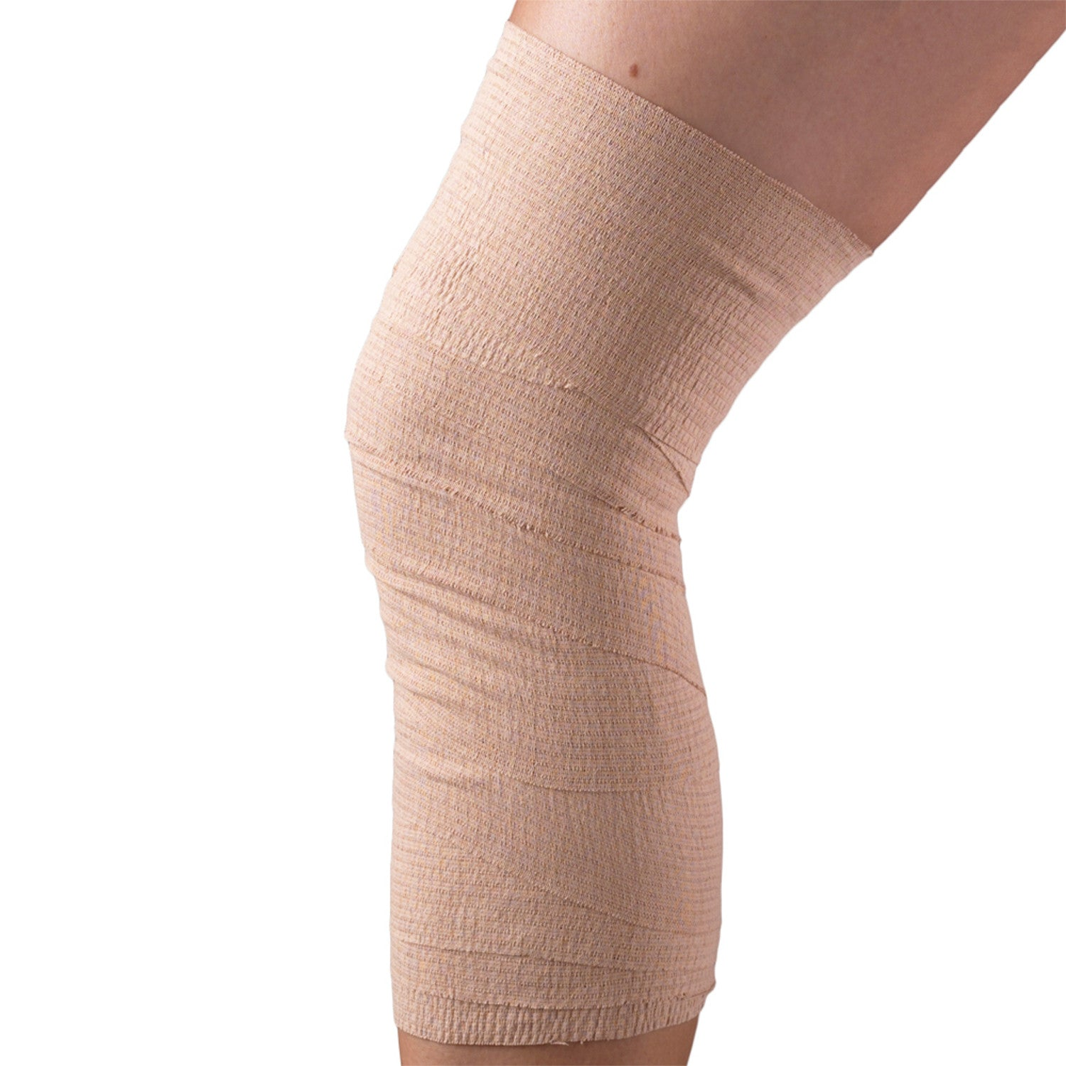 "4"" WIDE SELF-ADHERING ELASTIC BANDAGE ON A KNEE"
