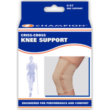 FRONT OF CRISS-CROSS KNEE SUPPORT PACKAGING