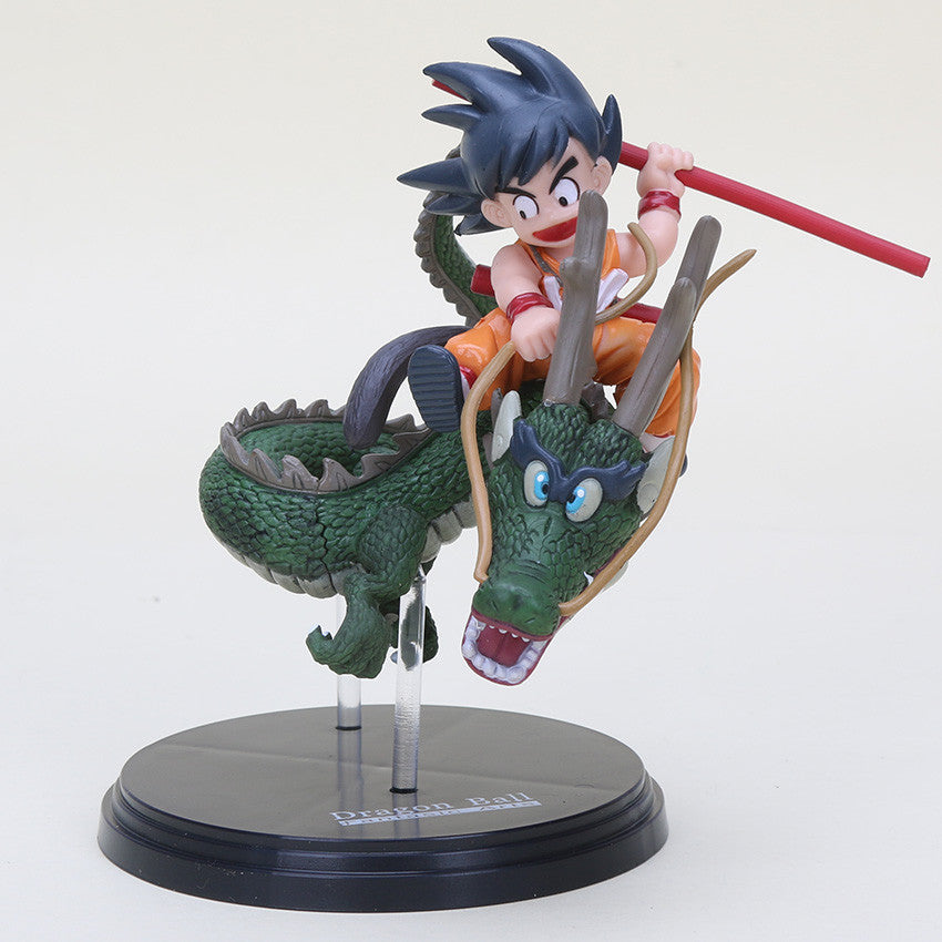 Kid Goku Riding Shenron Collectible Action Figure