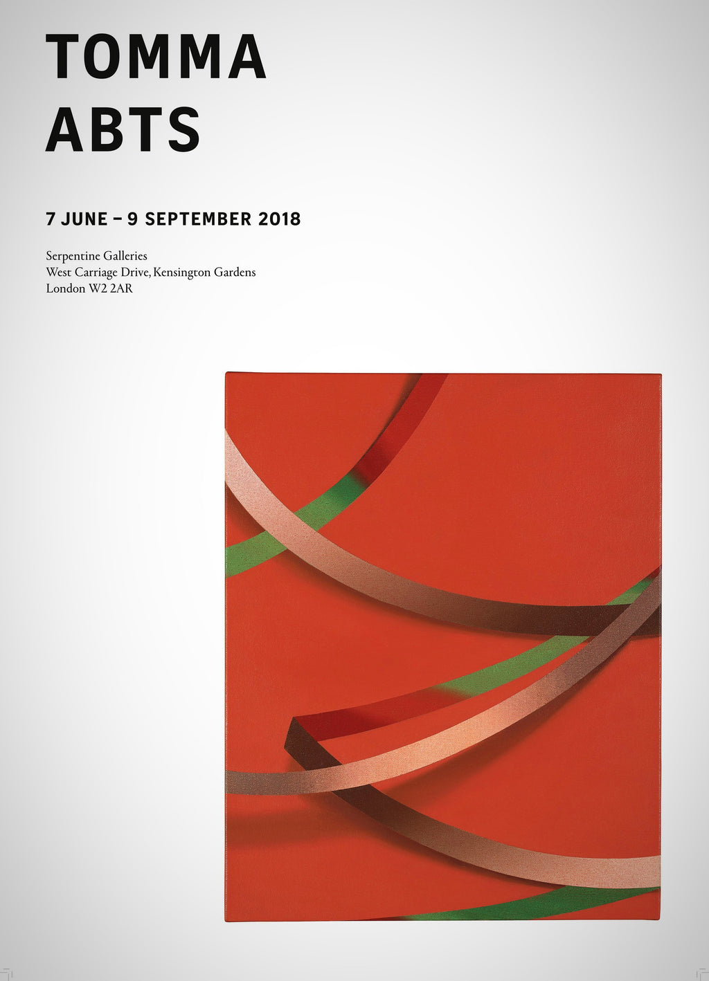 Tomma Abts Exhibition Poster
