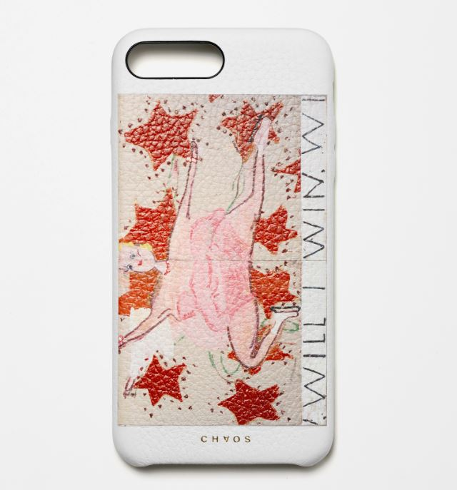 CHAOS X Rose Wylie - Limited Edition iPhone case - PINK SKATER (WILL I WIN, WILL I WIN)