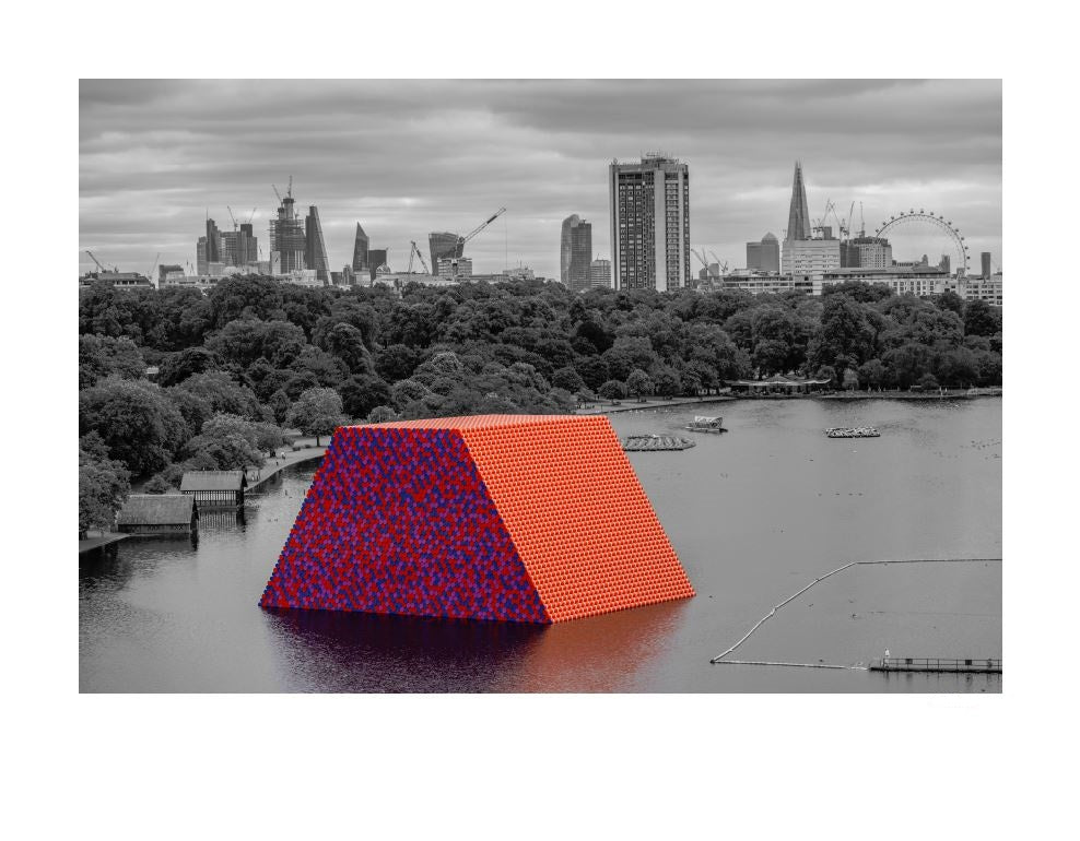 Christo and Jeanne-Claude: The London Mastaba, 2018