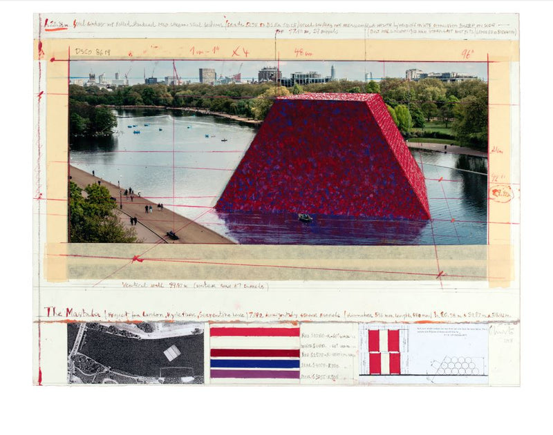 Christo: The Mastaba (Project for London, Hyde Park, Serpentine Lake) 2018