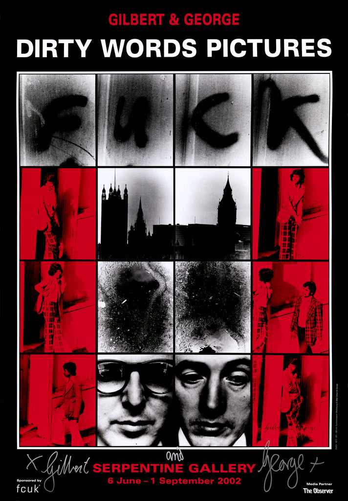 Gilbert & George: Framed and Signed exhibition poster