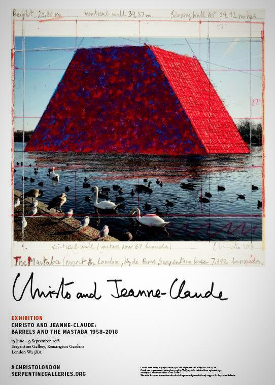 Christo and Jeanne-Claude Exhibition Poster - Mastaba On the Lake
