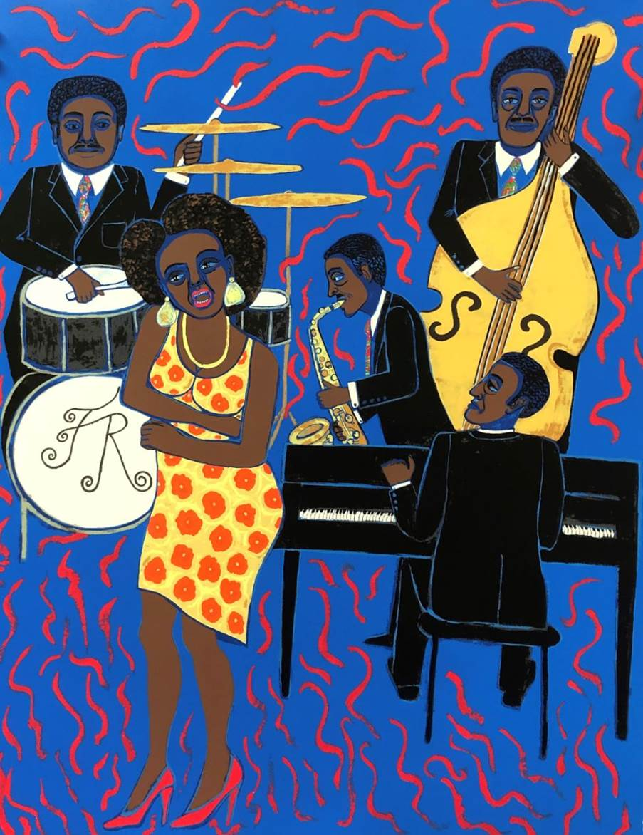 Faith Ringgold: Jazz Stories: Mama Can Sing Papa Can Blow #8:  Don't Wanna Love You Like I Do