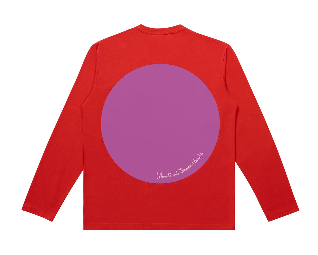 Christo and Jeanne-Claude Long Sleeve T-Shirt - Red