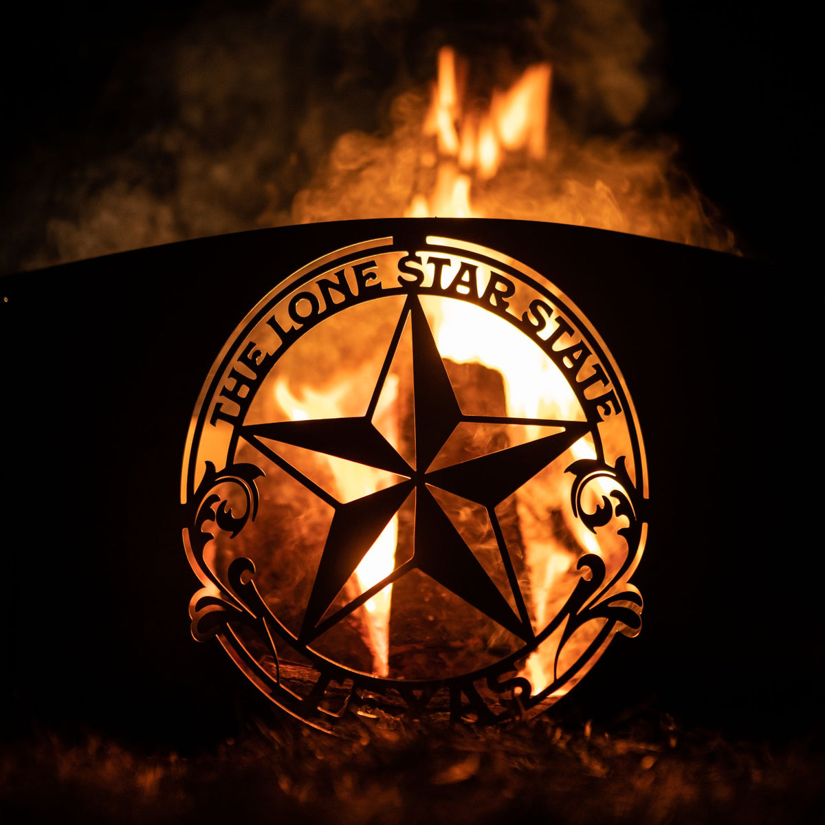 Lone Star State Fire Pit Ring