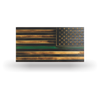 Thin Green Line Battle Flag - Wood