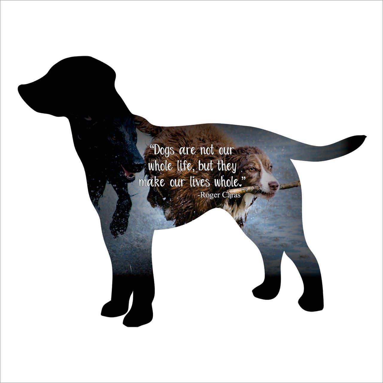 Home Decor - Dog Silhouette Imagery Sign