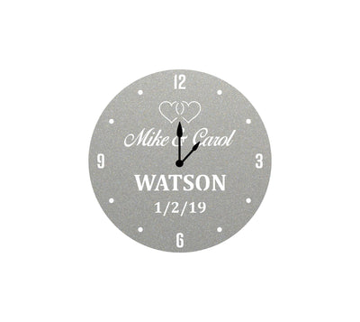 Home Decor - Personalized Wedding Clock