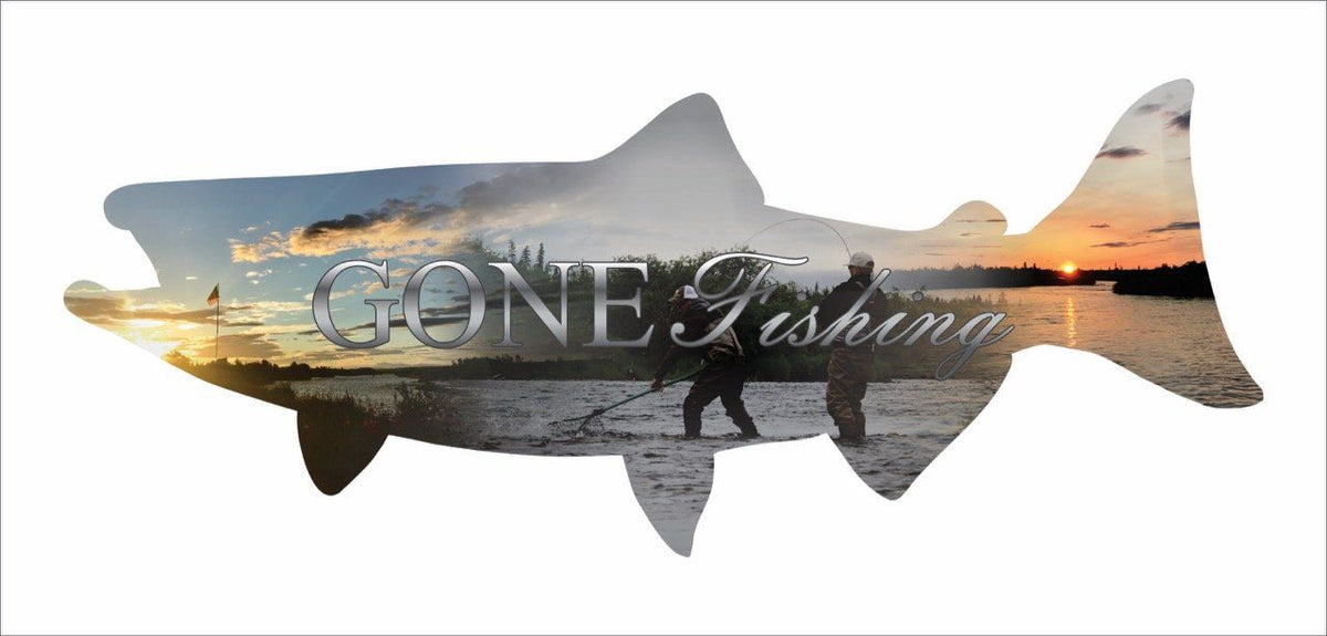 Home Decor - Salmon Imagery Sign