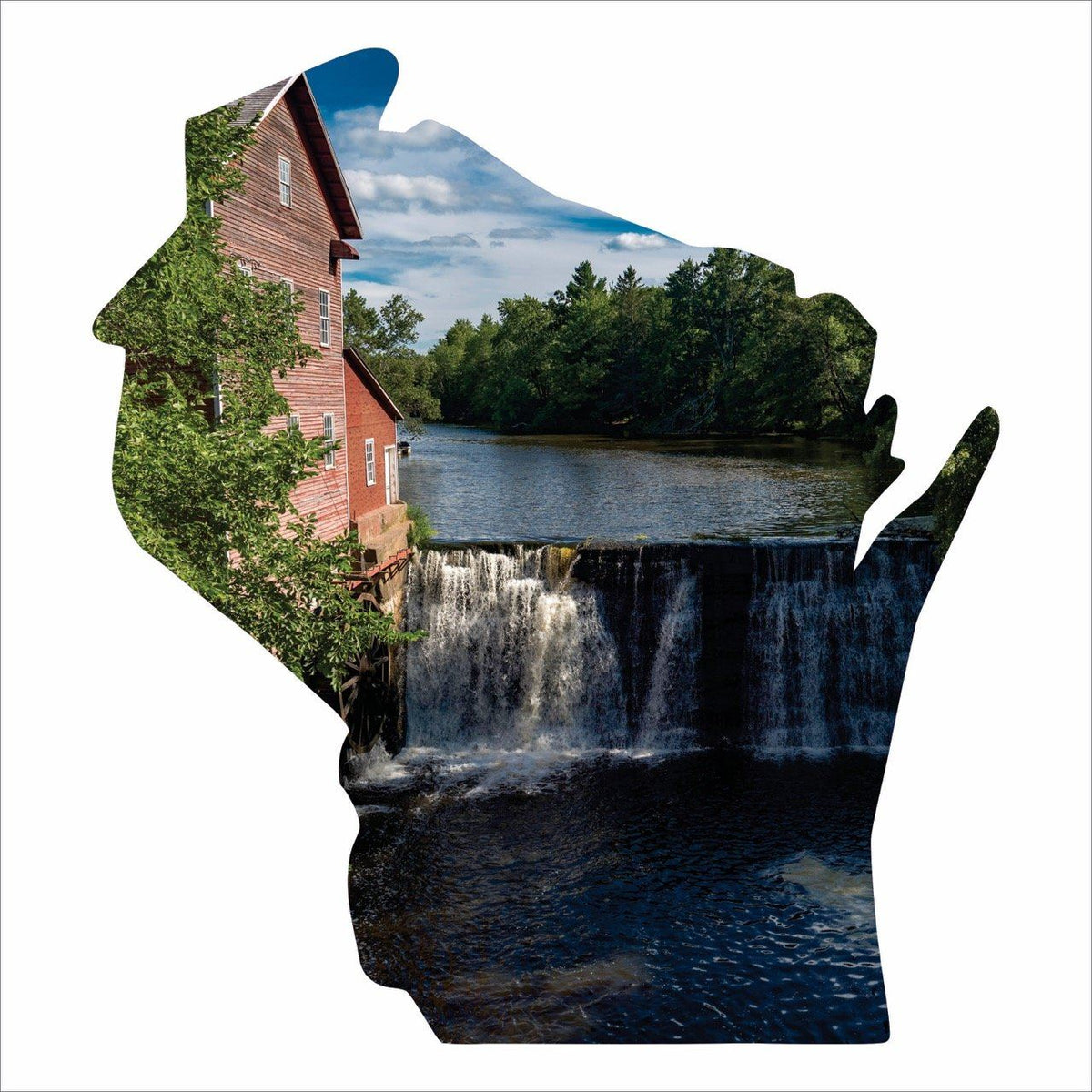 Home Decor - Wisconsin Silhouette Imagery Sign