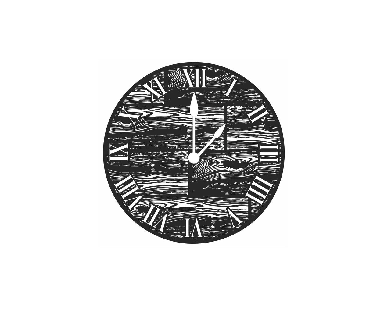 Home Decor - Wood Grain Metal Clock