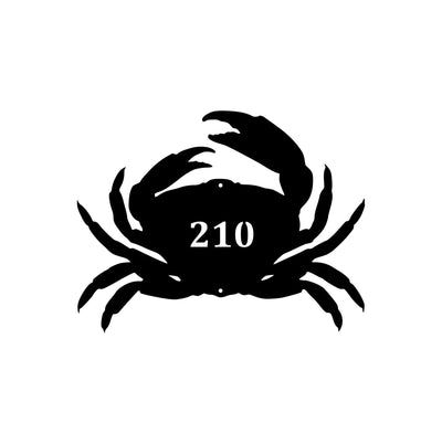 Personalized-3 - Crab Silhouette Address Sign
