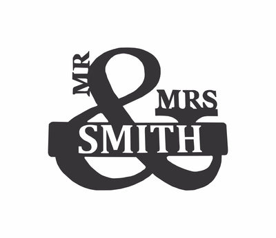 Personalized-7 - Mr. & Mrs. Monogram