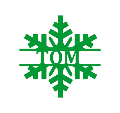 Holiday Metal Art - Personalized Snowflake