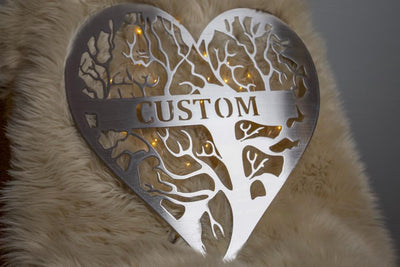 Personalized Tree Of Life Heart