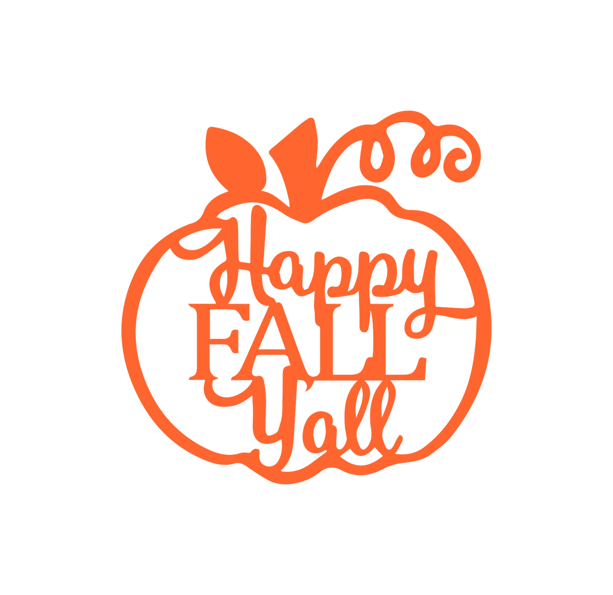 Stock - Happy Fall Y'all Sign