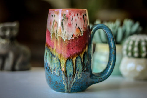 02-A Coral Mountain Meadow Mug - TOP SHELF, 19 oz.