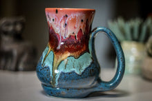 Load image into Gallery viewer, 11-A Coral Mountain Meadow Barely Flared Acorn Mug, 17 oz.