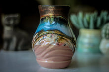 Load image into Gallery viewer, 12-B Copper Agate Barely Flared Textured Acorn Mug - TOP SHELF, 18 oz.