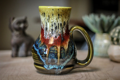 02-A Blood Moon Barely Flared Textured Acorn Mug - TOP SHELF, 20 oz.