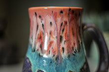 Load image into Gallery viewer, 13-D Coral Meadow Barely Flared Mug, 17 oz.