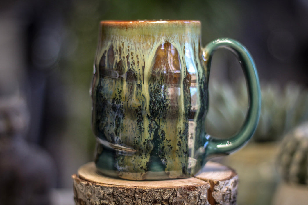 15-E Spanish Moss Variation Textured Stein Mug, 14 oz.