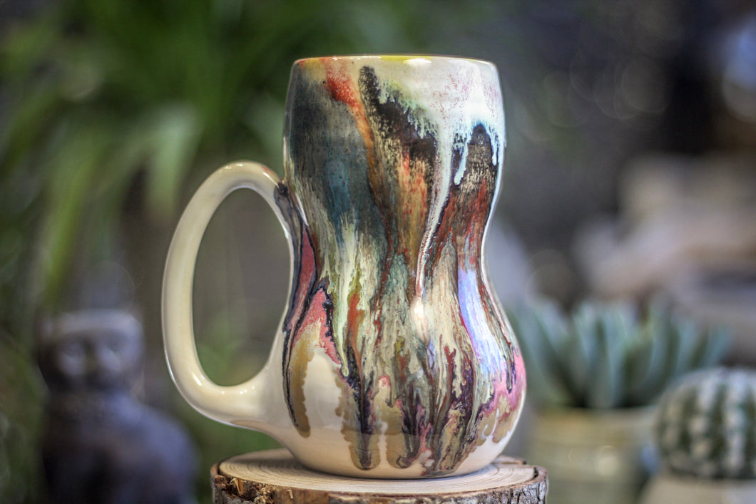 14-A Snowy Grotto Gourd Mug - TOP SHELF MISFIT, 21 oz.