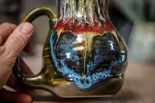 Load image into Gallery viewer, 02-A Blood Moon Barely Flared Textured Acorn Mug - TOP SHELF, 20 oz.